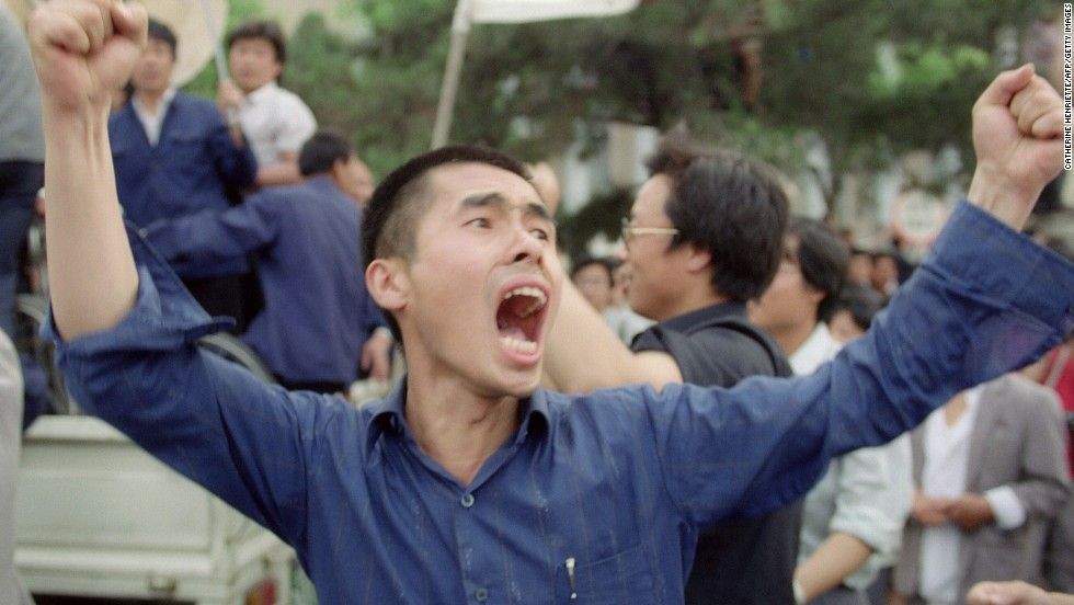 May 18, 1989 and Gorbachev has been in China for three days, witnessing street protests for each of those days. At the height of demonstrations, a million people were marching through Beijing.