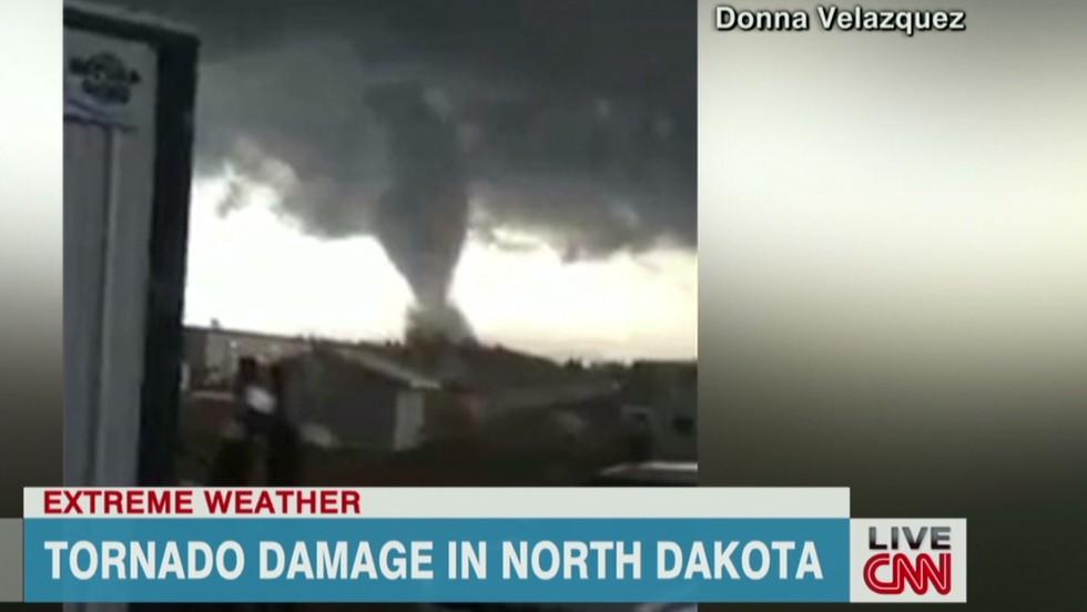 Video shows huge tornado in North Dakota - CNN Video