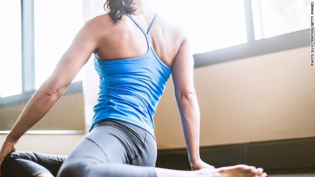 Yoga is one natural strategy for fighting back pain.