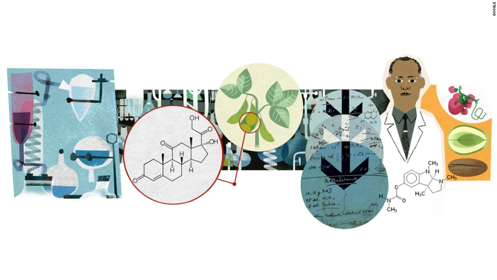 A Doodle in the United States on April 11, 2014, celebrated organic chemist Percy Julian's 115th birthday.