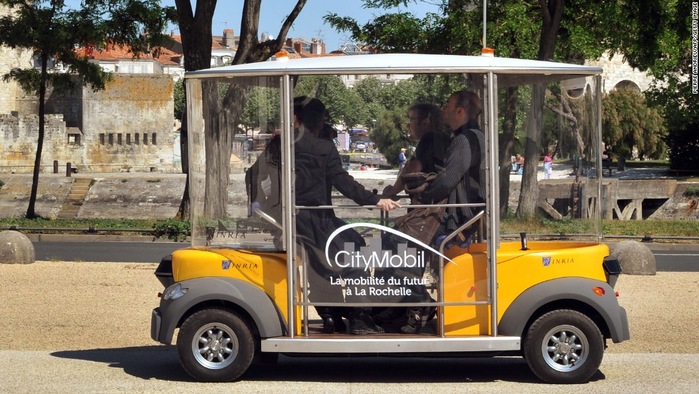 An electric driverless car called Citymobil was introduced in French town of La Rochelle in 2011 as part of a program aiming at reducing both traffic and pollution.