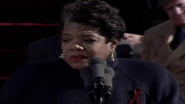 1993:  Angelou at Clinton's inauguration