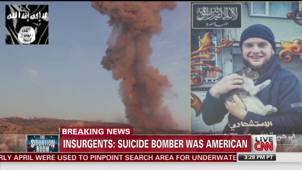 Islamic militants claim American carried out suicide attack in Syria
