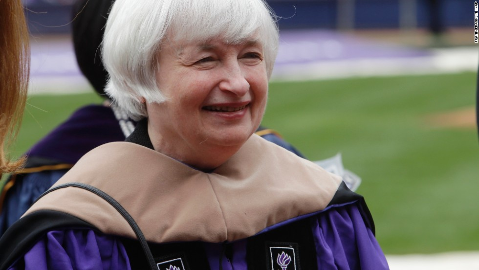 The Federal Reserve chairwoman delivered the commencement speech at New York University on May 21.