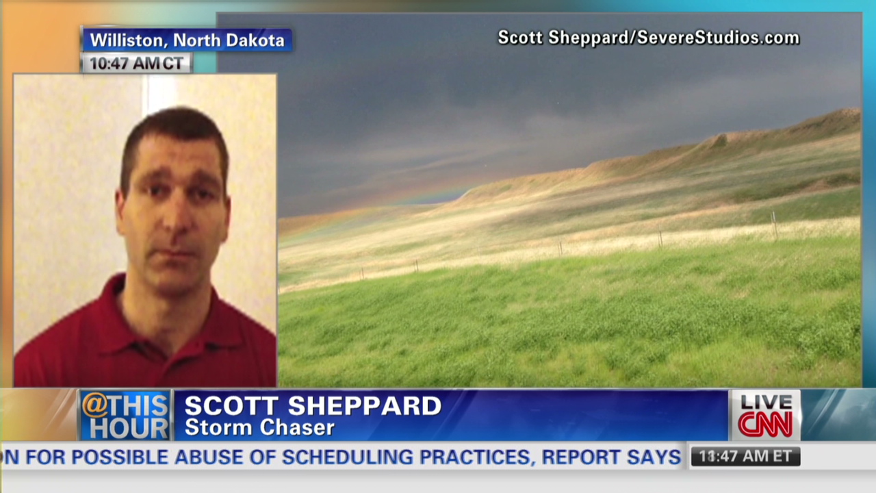 How Did Storm Chaser Survive THIS CNN Video - Storm chaser gets struck lightning films