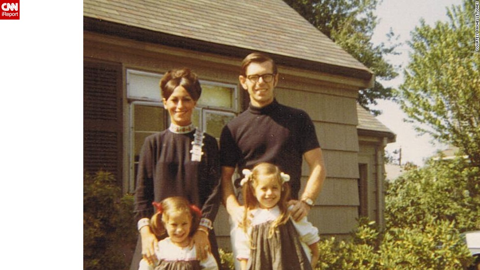 "Check out those matching outfits! <a href=""http://ireport.cnn.com/docs/DOC-1119779"">Michelle Jones</a>, bottom left, shared a photo of herself with her sister and their parents in front of their grandmothers' house in Newton, Massachusetts, in 1968. ""I loved the outfits my mom wore -- always the latest fashion, big eyelashes and big makeup."""
