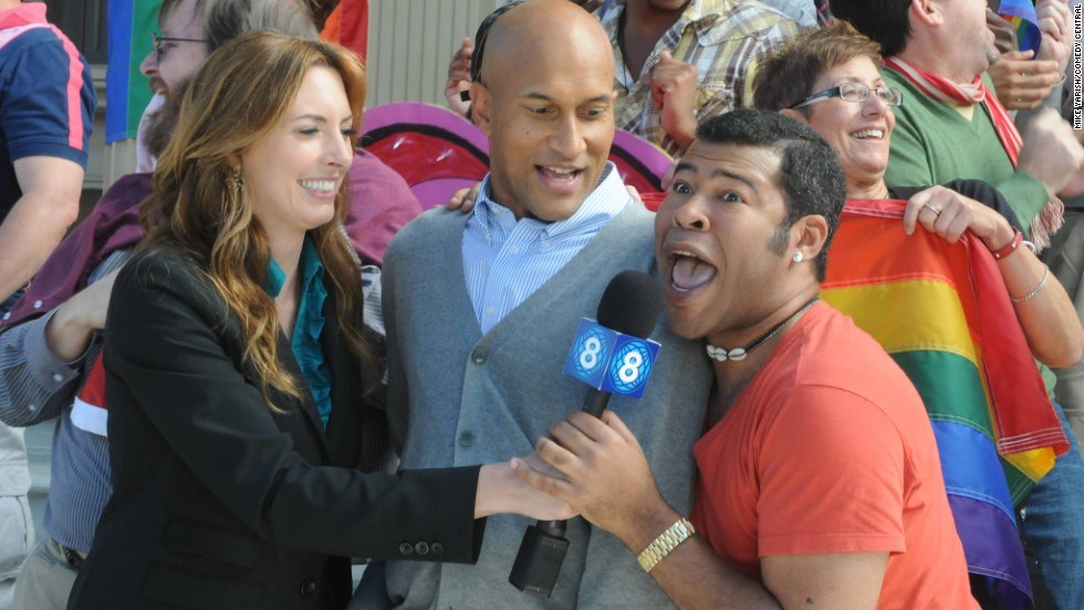 "<strong>""Key and Peele: Season 3"" (2012)</strong> - Keegan-Michael Key and Jordan Peele (seen here in a scene with Erin Gibson) star in one of the sharpest comedy shows on TV. (Amazon)"