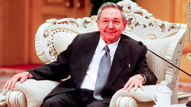 Cuban President Raul Castro holds a meeting with Chinese Premier Wen Jiabao (not pictured) in the Great Hall of the People on July 6, 2012 in Beijing, China.