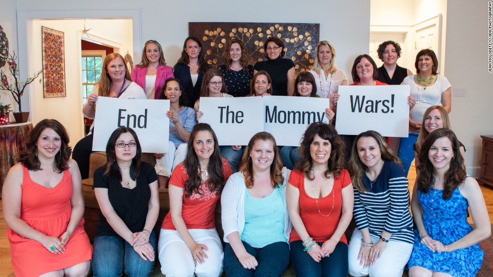 "This group of Connecticut moms wants the sniping and competition between mothers to end, so they created the photo project ""End the Mommy Wars."" Click through the gallery to see some of the divergent mothering choices they've made -- and made peace with."