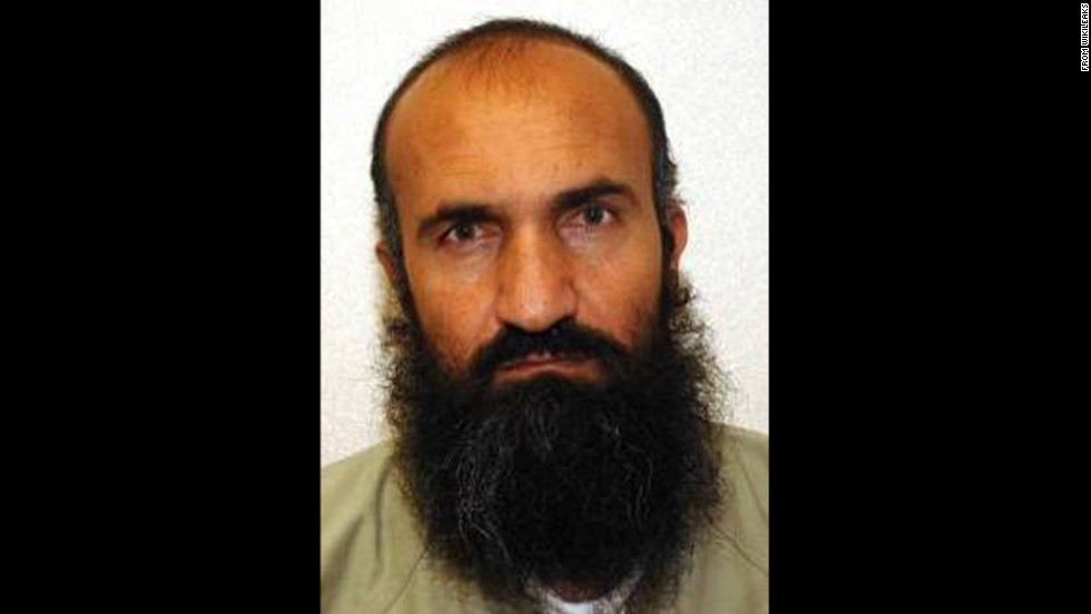 Five detainees at Guantanamo Bay were transferred to Qatar in exchange for the release of Army Sgt. Bowe Bergdahl, who was being held by the Taliban. Two senior administration officials confirmed the names of the released detainees, whose photos were obtained by WikiLeaks. Khair Ulla Said Wali Khairkhwa, seen here, was an early member of the Taliban in 1994 and was interior minister during the Taliban's rule. He was arrested in Pakistan and was transferred to Guantanamo in May 2002. During questioning, Khairkhwa denied all knowledge of extremist activities.