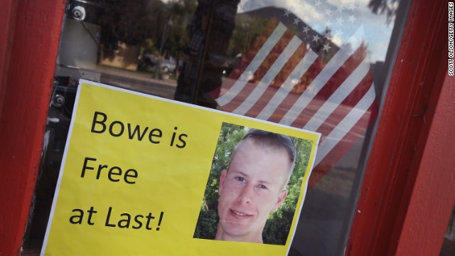 Caption:HAILEY, ID - JUNE 01: A sign announcing the release of Sgt. Bowe Bergdahl sits in the window of the Hailey Paint and Supply store on Main Street June 1, 2014 in Hailey, Idaho. Sgt. Bergdahl was captured in Afghanistan in 2009 while serving with U.S. Armys 501st Parachute Infantry Regiment in Paktika Province. Yesterday he was released after a swap for 5 prisoners being held at Guantanamo Bay was arranged. Bergdahl was considered the only U.S. prisoner of war held in Afghanistan. (Photo by Scott Olson/Getty Images)