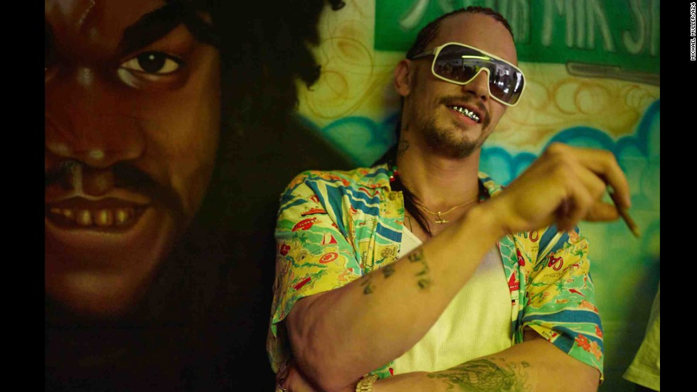 "James Franco's character was a little rough in the 2013 movie ""Spring Breakers."" And by ""rough,"" we mean acting and looking."