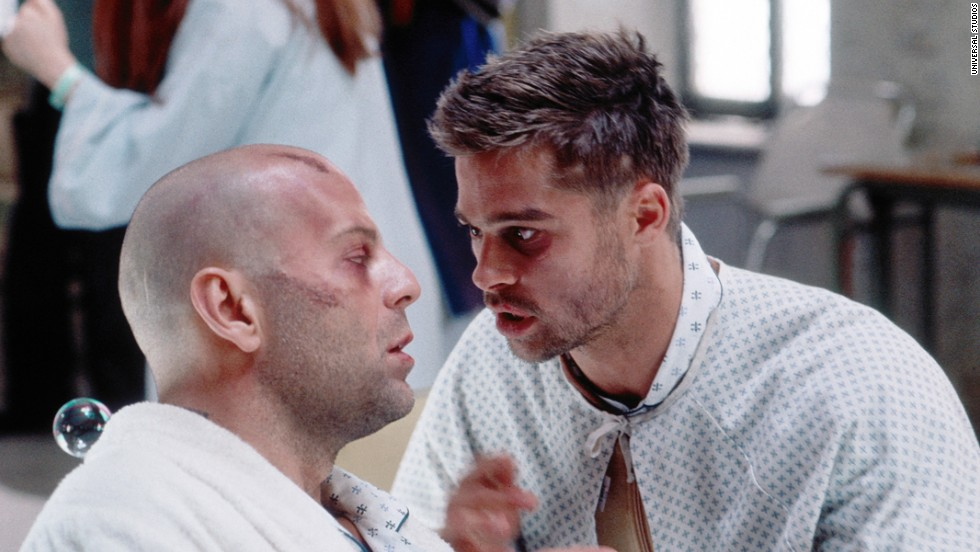 "In ""12 Monkeys,"" Bruce Willis, left, has to go back in time from 2027 to the 1990s, before a virus devastated humanity. Brad Pitt, right, is a mental patient he meets when he's committed. The film is based on a <a href=""https://www.youtube.com/watch?v=zKW8kLGJYXg"" target=""_blank"">1962 French short, ""La Jetee.""</a>"