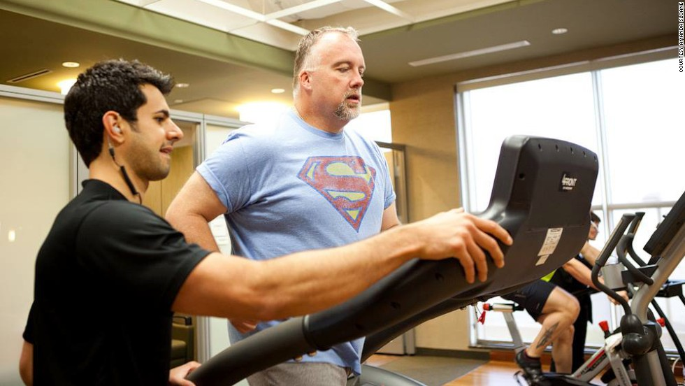 "Ron Cothran tests his cardio endurance. ""This week proved to me that there is an athlete inside me that wishes to come out and play,"" he said. ""What I thought in the past to be impossible is now becoming reality."""