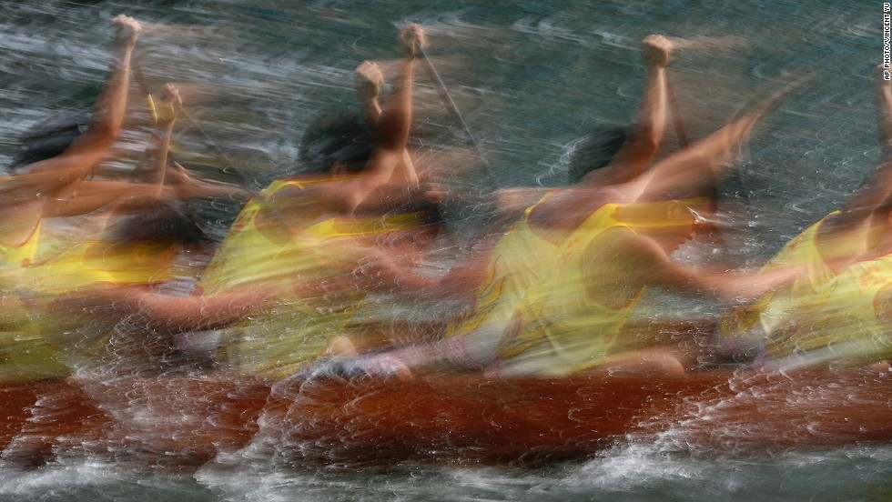 "JUNE 2 - HONG KONG: Participants compete in a dragon boat race as part of celebrations marking the Chinese Dragon Boat Festival during the <a href=""http://travel.cnn.com/hong-kong/secrets-dragon-boat-festival-rice-dumpling-revealed-962694"">fifth day of the fifth lunar month. </a>The tradition is <a href=""http://travel.cnn.com/shanghai/life/what-does-dragon-boat-festival-mean-you-272714"">one of the most important events </a>on the Chinese calendar."