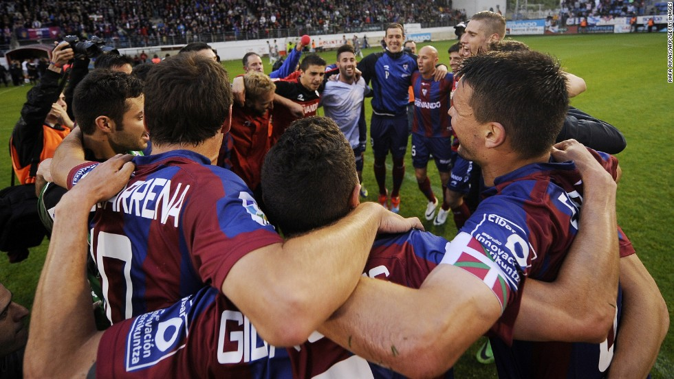 Tiny Eibar has hit the big time, earning promotion to La Liga for the first time in the club's history. It will be the smallest team to compete in Spain's top flight, with a town of just 27,000 people and a stadium that holds just 5,000 spectators. But there could be a sting in the tail.