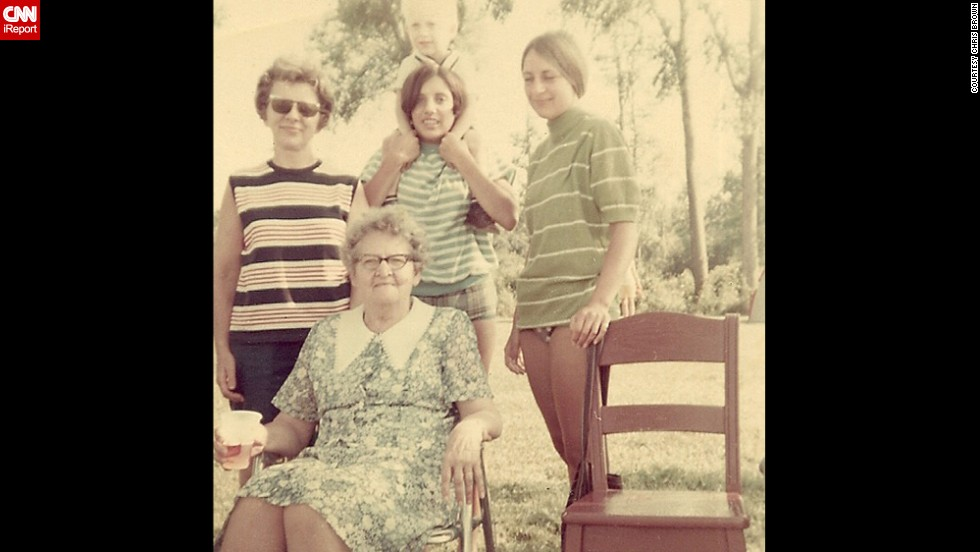 "<a href=""http://ireport.cnn.com/docs/DOC-1125571"">Chris Brown</a>, not pictured, shared this photo because it captures three generations of his family in 1969 in Radisson, Wisconsin. He often thinks about ""how simple life really must have been back then."""