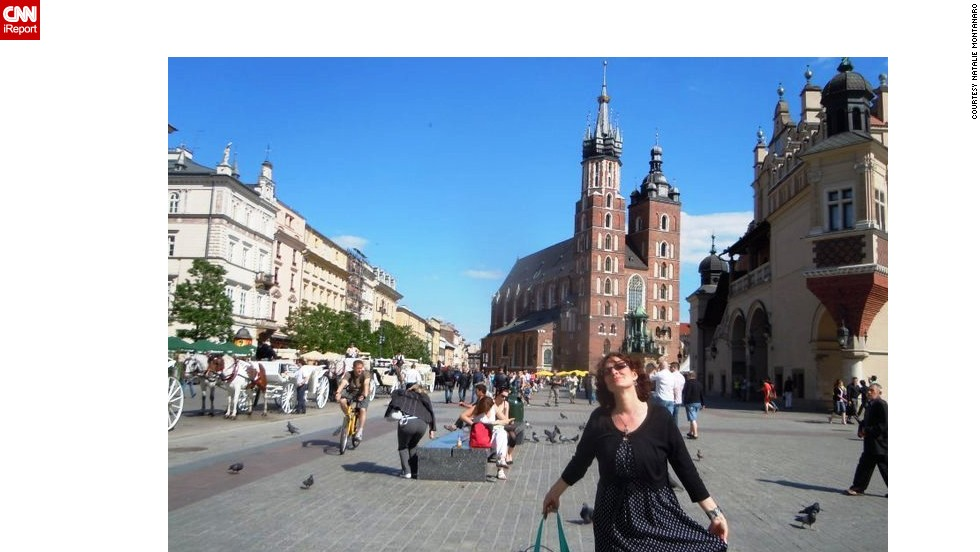 "<strong>5. Krakow's Market Square:</strong> Natalie Montanaro thinks <a href=""http://ireport.cnn.com/docs/DOC-1135629"">Market Square</a> is ""one of the best places to have a great day, rain or shine."" Browse the stalls for ""all kinds of handmade goods and Polish jewels like amber,"" and come hungry, said Montanaro."