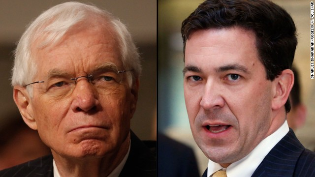 The primary in Mississippi for Sen. Thad Cochran's seat was prolonged when neither Cochran, left, nor challenger Chris McDaniel received 50% of the vote and went to a runoff.