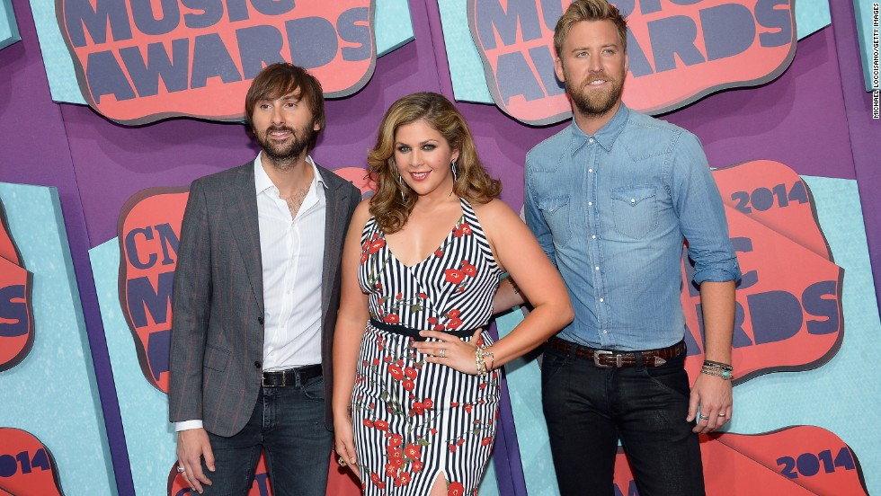 From left, Dave Haywood, Hillary Scott and Charles Kelley of Lady Antebellum