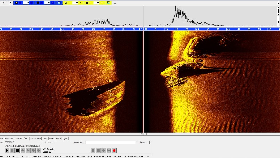 A new sonar image taken by Hydroid's REMUS 100 AUV shows the sunken LST 531.