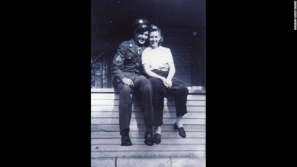 Louis Bolton poses with his wife, Wilma, before he was sent to England. Bolton was killed during Exercise Tiger.