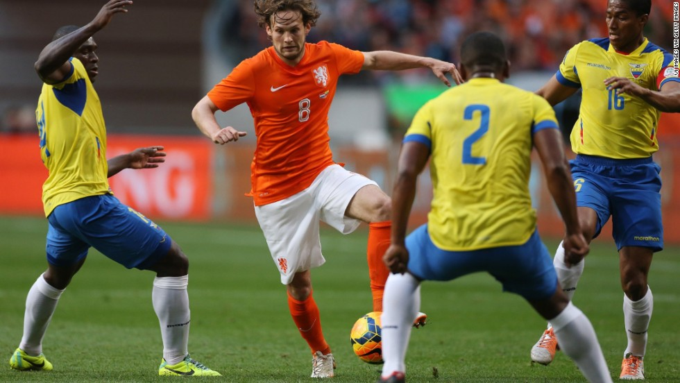 <strong>Daley Blind (Netherlands):</strong> He's no goal machine, but Ajax's 2012-13 Player of the Year is a true box-to-box midfielder. With Kevin Strootman out due to injury, the 24-year-old understudy should see additional playing time for his country. He'll have extra motivation, too: His father, Danny Blind, who also played for Ajax, is a coach for the national team and has been tapped to take the team's reins following the 2016 European Championship.