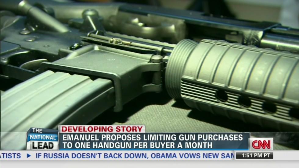Rahm Emanuel: One gun purchase per month - CNN Video