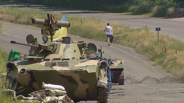 Silence surrounds shelled Ukrainian town