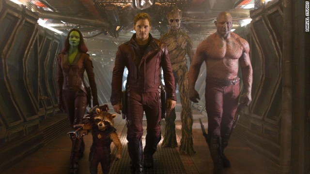 "An unlikely band of criminals turned heroes attempts to save the universe in Marvel's ""Guardians of the Galaxy."""