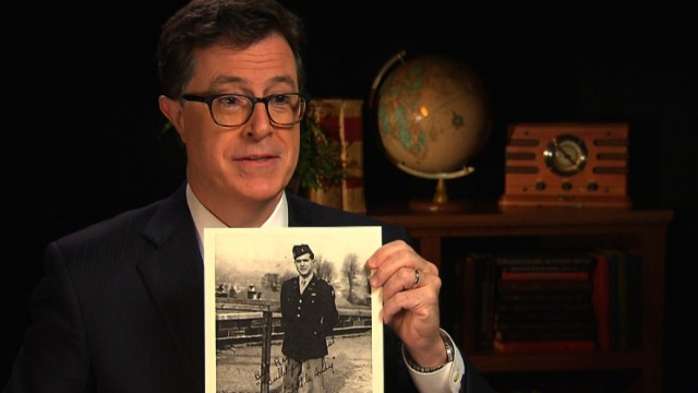Stephen Colbert's emotional D-Day story