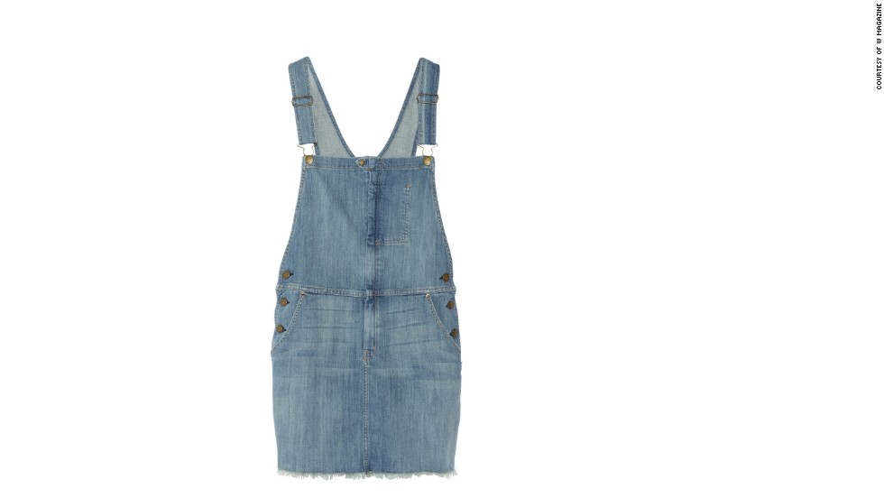 "Paired with a simple t-shirt, these medium-wash overalls are just right for a fun summer day. Current/Elliott The Garrison Overall stretch-denim dress, <a href=""netaporter.com"" target=""_blank"">netaporter.com</a>."