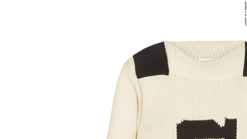 "This retro sweater will be much needed on a windy boat ride. Chloé Intarsia cotton-blend sweater, <a href=""http://www.net-a-porter.com/product/408162/Chloe/intarsia-cotton-blend-sweater-"" target=""_blank"">netaporter.com</a>."