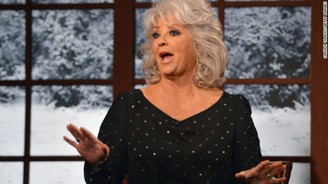 Cooking show host Paula Deen visits New York City on December 6, 2012.