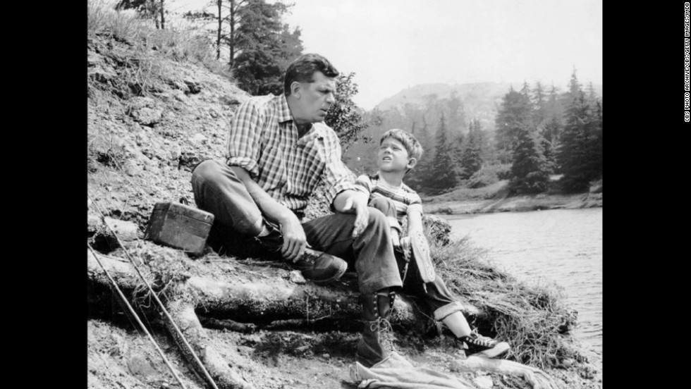 "<strong>""The Andy Griffith Show"": </strong>Andy Griffith played a widowed sheriff -- and father to son Opie (Ron Howard) -- in the 1960s series set in the fictional town of Mayberry, North Carolina."