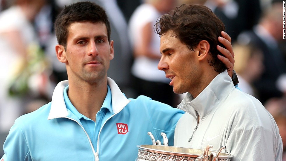 Djokovic is left to reflect on another missed opportunity at the French Open as he congratulates an emotional Nadal.