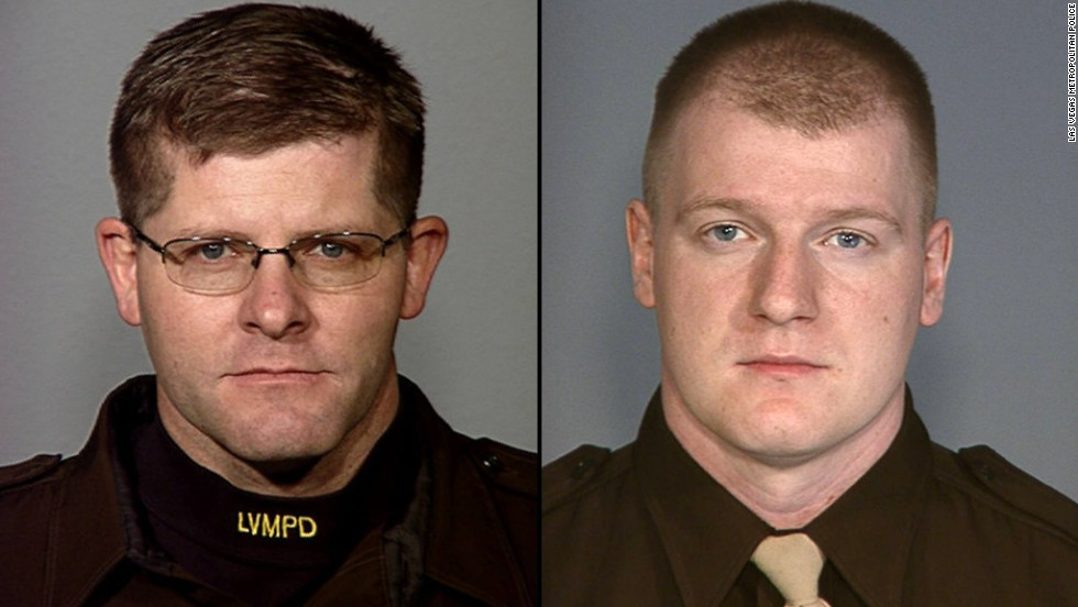 Officers Alyn Beck, left, and Igor Soldo were shot while eating lunch. Both were husbands and fathers.
