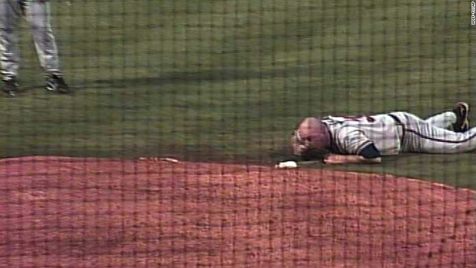 <strong>Phillip Wellman:</strong> Baseball managers are known to tangle with umpires, but the Mississippi Braves manager raised the bar in 2007. After screaming in the ump's face for several seconds, Wellman covered home plate with dirt and did a Delta Force impression, crawling to the mound and throwing a rosin bag like a grenade before absconding with second and third base.