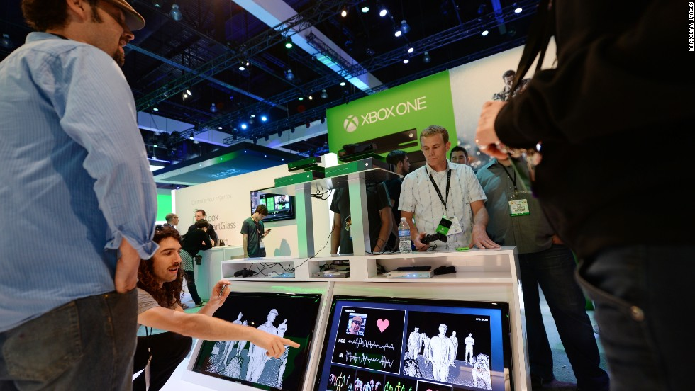 At E3, all games, no Kinect for Microsoft