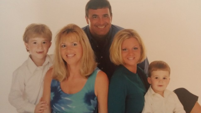 Carol Costello's nephew Anthony, left, in a photo from the early 2000s, with his parents Johanna and Tony, and siblings Christina and Vincent.