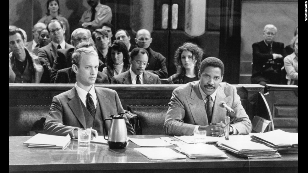 "<strong>""Philadelphia"" (1993)</strong>: Tom Hanks won an Oscar for his emotionally powerful portrayal of a lawyer who's unfairly dismissed from his firm once it's discovered he has HIV/AIDS. The eventual camaraderie between Hanks and Denzel Washington as his skeptical attorney brings on the happy tears."