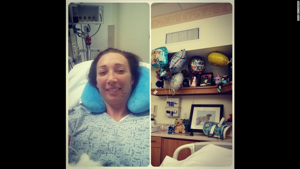 "Former Olympic swimmer Amy Van Dyken-Rouen, who severed her spine in an all-terrain vehicle accident, posted a photo of herself <a href=""http://instagram.com/p/pETrcltZcl/"" target=""_blank"">in the hospital</a> on Tuesday, June 10. ""Doing great today,"" she said. ""My room is the most decorated in ICU. Thx for ur thoughts & prayers!"""