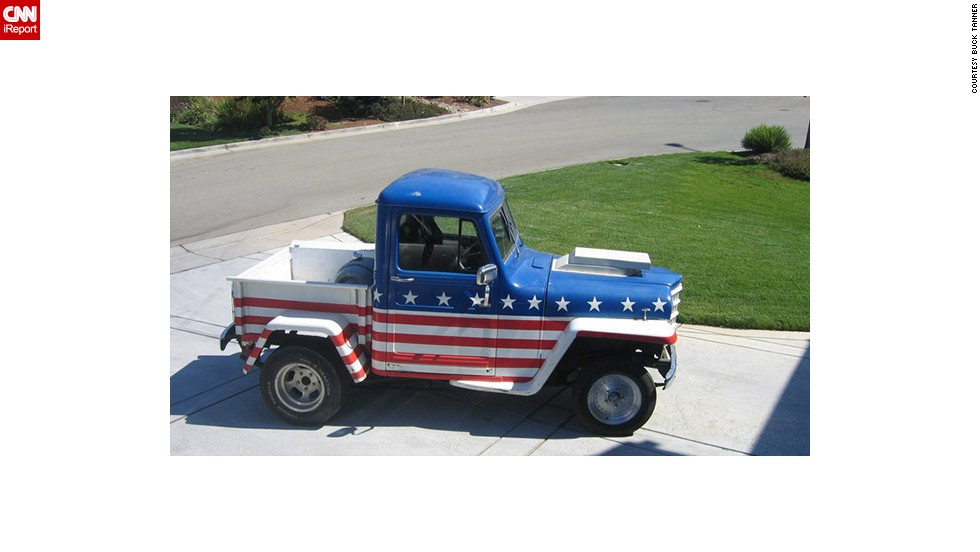 "Sales engineer <a href=""http://ireport.cnn.com/docs/DOC-1143046"">Buck Tanner</a> inherited this 1950 stars and stripes Jeep from his father in 2005. The truck gets a lot of salutes when Tanner drives it, and has been in a couple of July 4th parades in his hometown of Morgan Hill, California"