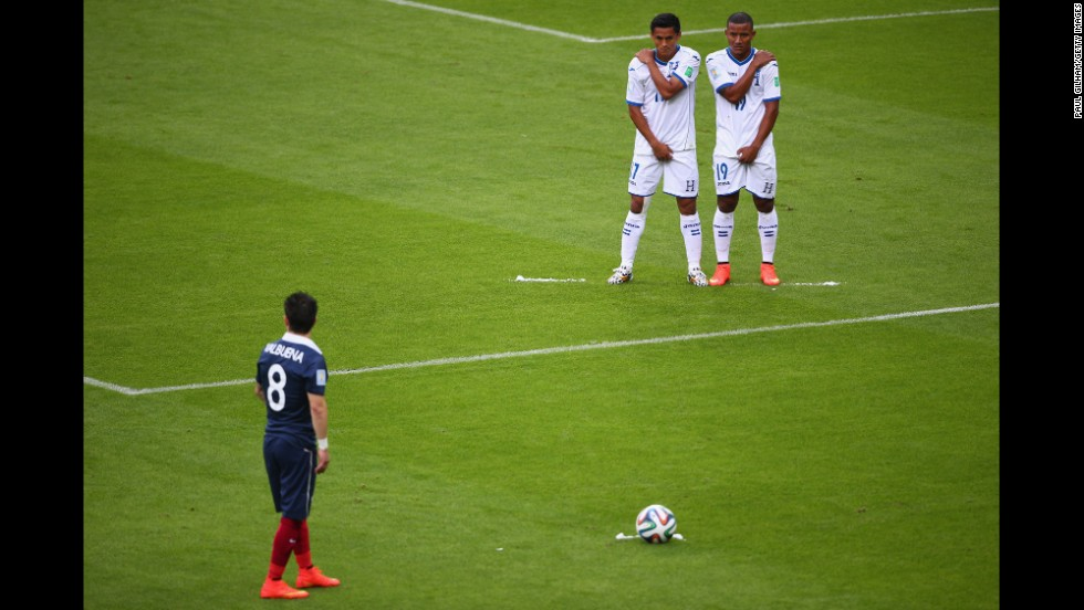 Mathieu Valbuena of France prepares to take a free kick.