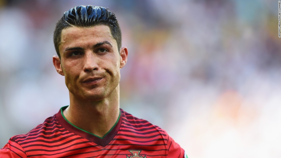 Portugal's Cristiano Ronaldo is seen during his team's 4-0 loss to Germany in Salvador, Brazil. Portugal spent most of the match playing with 10 men after one of its players received a red card.