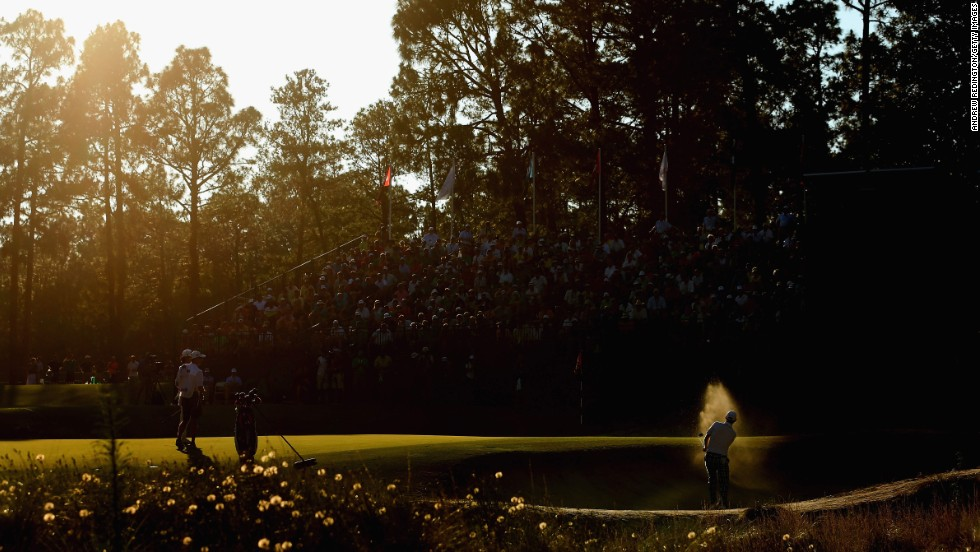 Brandt Snedeker hits a shot from a greenside bunker in the third round of the U.S. Open on Saturday, June 14, in Pinehurst, North Carolina. He finished the tournament tied for ninth.