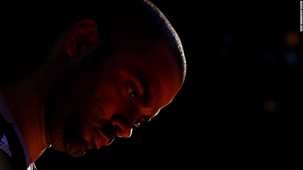 Tony Parker of the San Antonio Spurs waits to be introduced prior to Game 4 of the NBA Finals on Thursday, June 12. With the Spurs' Finals triumph, Parker has now won four NBA titles.