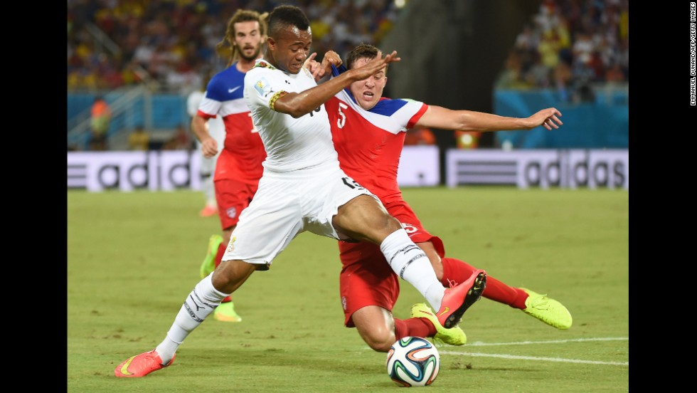 The U.S won its opening match against Ghana following a titanic tussle against the team which ended its dream in 2010. Clint Dempsey's early strike was canceled out by Andre Ayew's 82nd-minute equalizer. But with four minutes remaining, substitute John Brooks headed home the winning goal.