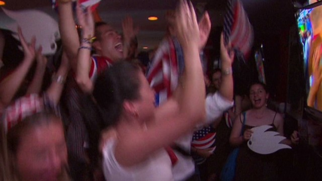 Fans celebrate U.S. win in World Cup