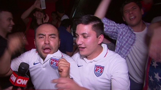 Fans go wild over America's World Cup win